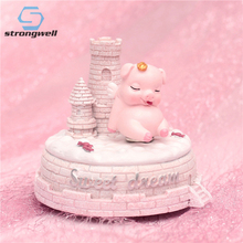 Strongwell Dreaming Music Box Ornaments Decorations Crafts Music Bells Cartoon Creative Resin Home Holiday Gifts цена