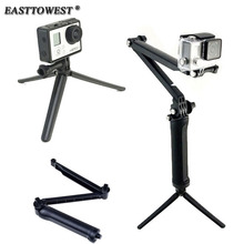 Easttowest Gopro Accessories 3-Way Grip Arm Tripod Camera Pole for Xiaomi Yi Gopro Hero 4 3 SJCAM SJ4000 SJ5000 SJ7000