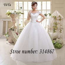 O Envio gratuito de Branco ou Vermelho Barato Lace Vestido De Casamento Da Princesa Vestidos de casamento Lace up Moda Vestidos De Novia De baile HS587(China (Mainland))