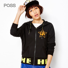PASS 2017 New Arrival Women Spring Jacket Fashion Street Style Letter Print Embroidery Stamp Jacket Female Zipper Loose Coat