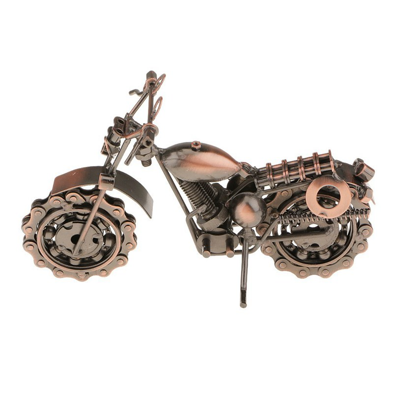 Vintage Metal Craft Motorbike Motorcycle Model Home Decor Ornament Gift Kids Mini Motorcycle Rc motos Remote Contro Motorbike in RC Motorcycles from Toys Hobbies