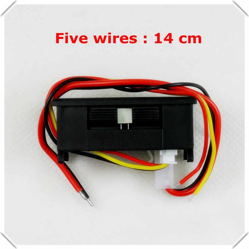 Rd display led duplo 0.28 DC0-100V/50a medidor de corrente tensão do carro digital amperímetro voltímetro 5 fio com derivação