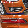 FIT FOR AUDI Q3 2012 2013 2014 FRONT REAR BUMPER FOG LIGHT LAMP CAP CHROME COVER REFLECTOR TRIM MOLDING GARNISH ACCESSORIES