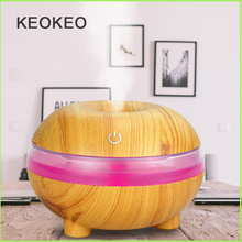 KEOKEO Air Humidifier 300ML USB Aroma Essential Oil Diffuser Ultrasonic Humidifier Air Purifier 7 Color LED Aroma Atomizer