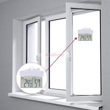 Buy 9 50 Degree Centigrade Mini Indoor Outdoor Digital Temperature Humidity Meter Window Thermometer Hydrometer with Sucker