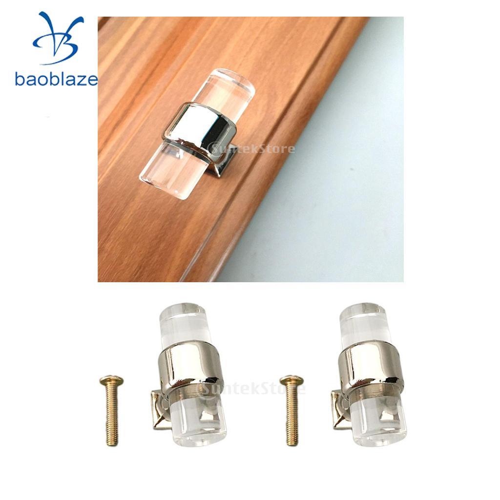 2 шт. 40 мм акриловый шкаф Мебель для дома дверную ручку T Бар Ручка Потяните ручки