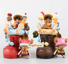 2016 High Quality Boxed Japanese Anime One Piece Action Figures Chopper/Luffy Christmas Edition Toys For Gift