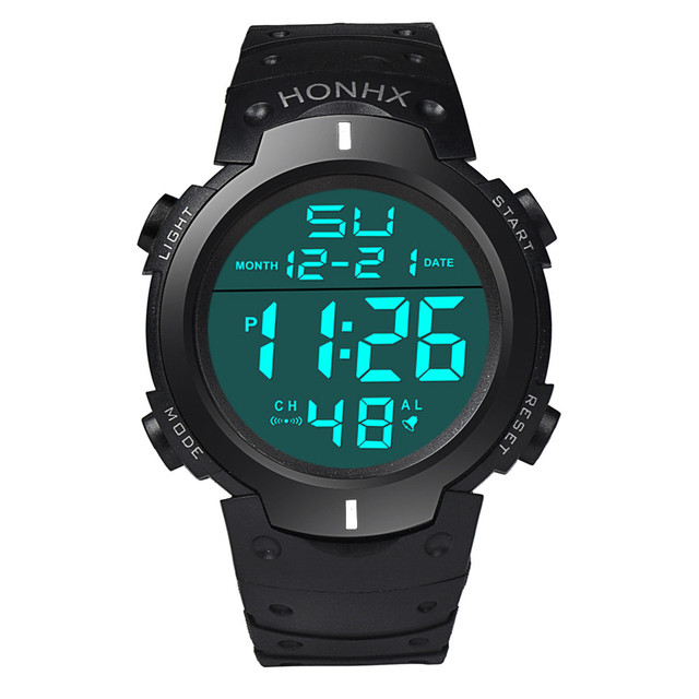 New Silicone LED Watch Hours Digital Watch Men Fashion Brand Male Clock Sports Relogio Masculino Wristwatch 3