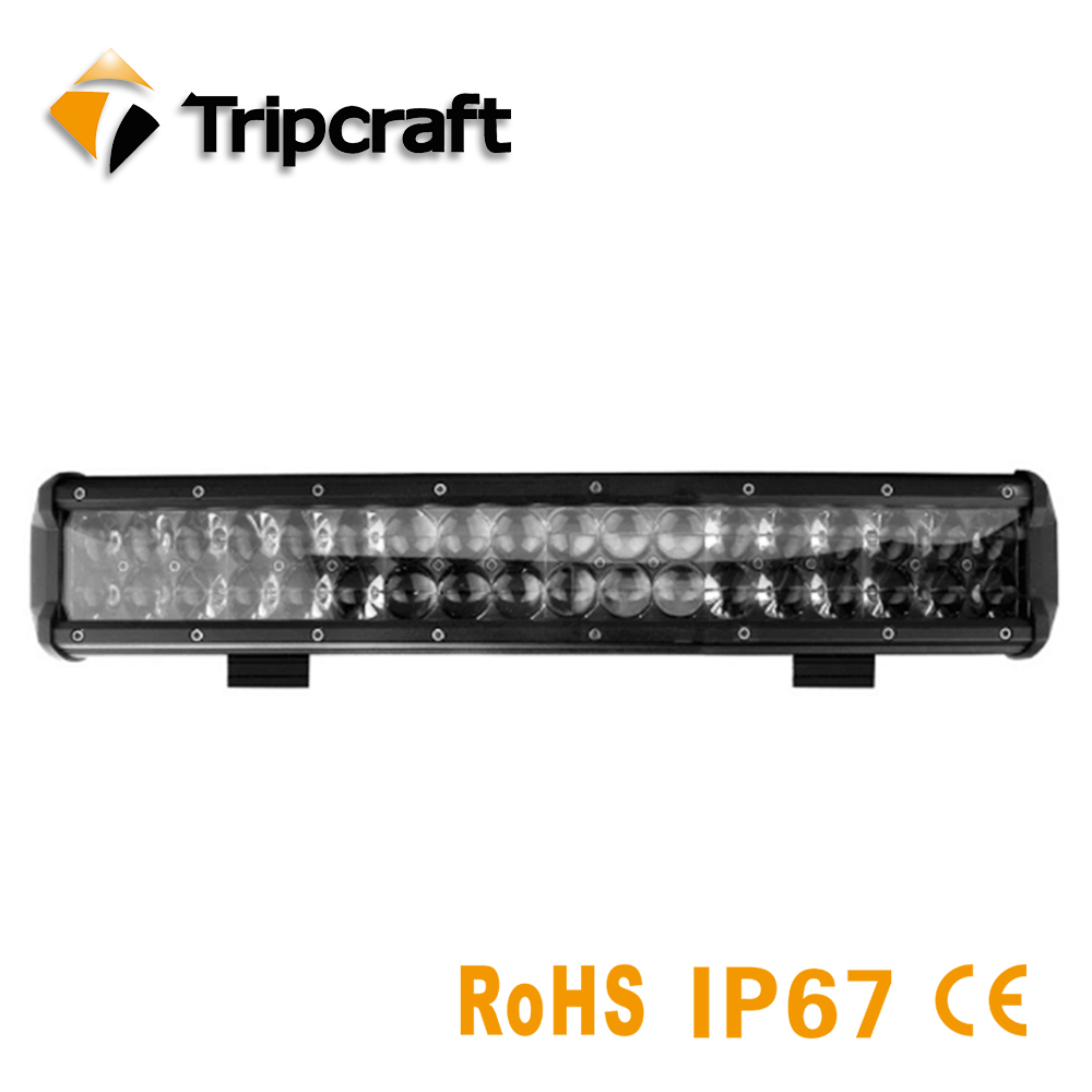 Tripcraft 17inch 180W 4D LED Light Bar IP67 Waterproof LED Driving Light for Motorcycle Tractor Boat Off Road 4WD 4x4 Truck SUV