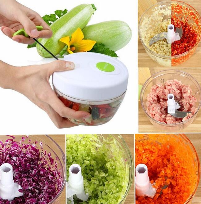 Pull Rope Vegetable Chopper Salad Ice Crusher Manual Multifunction ...