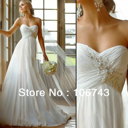 free shipping 2018 new style sexy brides chiffon sweetheart princess Custom maxi long debutante bridal gown   bridesmaid     dresses