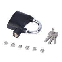 Black Waterproof Siren Alarm Padlock Alarm Lock For Motorcycle Bike Bicycle Perfect Security With 110dB Alarm