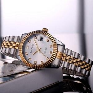 Image 2 - TORBOLLO frauen Armbanduhren Luxus Silber Rosa Zifferblatt Quarz Weiblichen Uhr Diamant Auto Datum Mode Damen Armbanduhr Neue Top