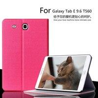 For Samsung Galaxy Tab E 9 6 Case 2016 Luxury Flip Leather Case For Samsung Galaxy