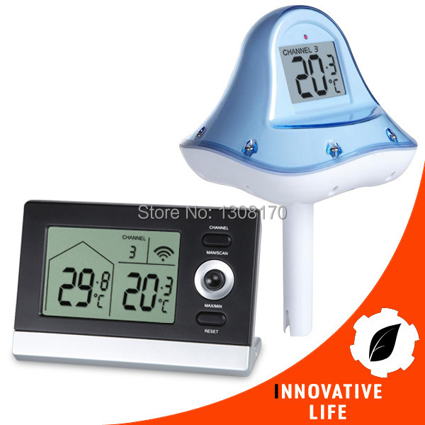 Digital Wireless Floating Thermometer -10 to 60 degree C (14 ~ 140 degree F) Range Swimming Pool Pond Spa 1pcs professional wireless digital swimming pool spa floating thermometer new arrival