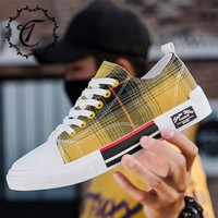 CatriCa Canvas 2019 Hot Sale Casual Men Shoes Designer Trainers Fashion High Quality Tennis Sneakers Black Yellow White SH D10