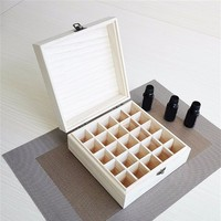 Wooden Storage Box 1pc Carry Organizer Essential Oil Bottles Aromatherapy Container Metal Lock Jewelry Treasure Case 4