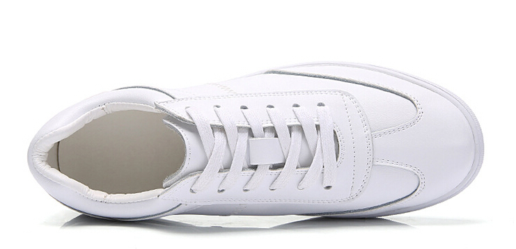 women shoes Genuine leather Lace-Up flats white shoe Soft bottom loafers Casual Shoes size 35-40 25