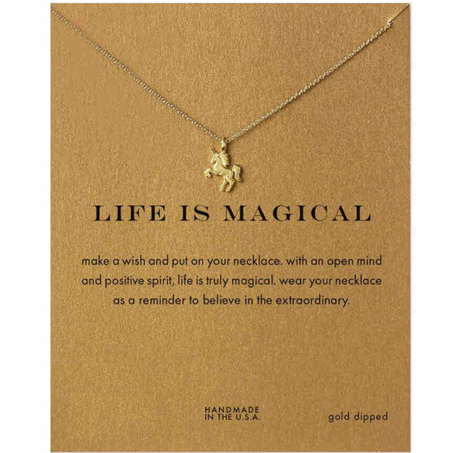 gift pendant necklaces pendants necklace pattern alloy girls jewelry store shape kids charms unicorn product cartoon