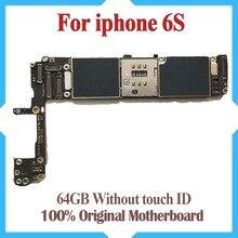 터치 id가없는 iphone 6s 마더 보드 용 64 gb, iphone 6s 메인 보드 용 unlocked, 100% good working