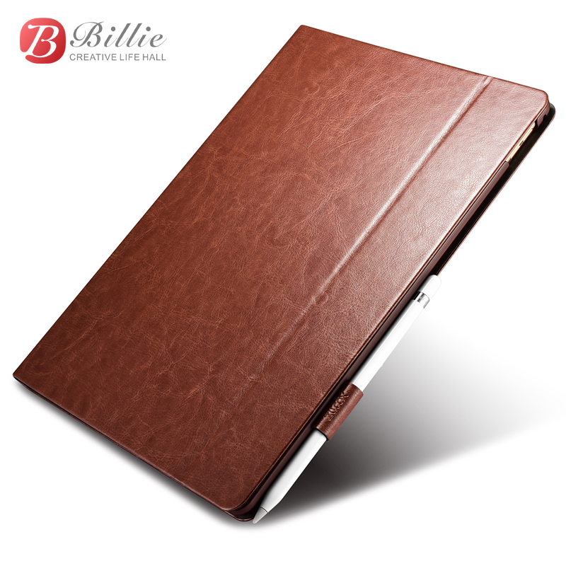 XOOMZ Original Retro Business Leather Case For iPad Pro 12.9 inch Tablet Cover Simple Foldable Stand Smart Cover For iPad Pro for apple ipad pro 12 9 inch pu leather stand cover flip back case luxury business style smart tablet cover for ipad pro