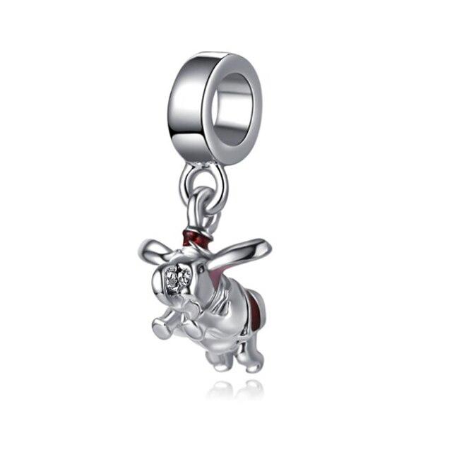 Porcos pequenos encantos beads fit Pandora pulseira de prata 925 original mary poppins do dia dos namorados jóias bijoux DGB517