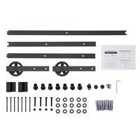 8FT Sliding Barn Door Hardware Roller Track Rail Kit Set for Closet Cabinet Sliding Door Fittings