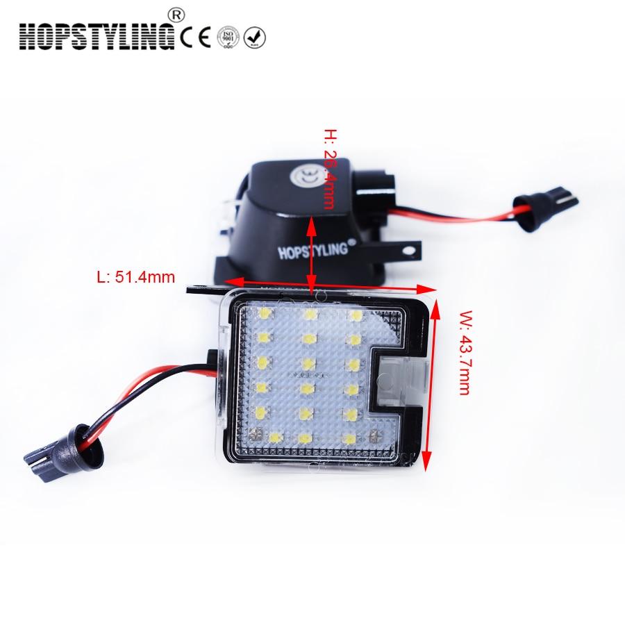 Hopstyling2x untuk Ford LED Sisi di bawah Cermin Cahaya Genangan - Lampu mobil - Foto 6