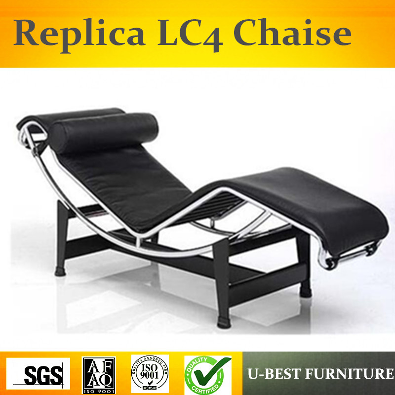 U-BEST Replica interior furnishings furniture cowhide leather Le Corbusier LC4 lounge chair dg home кушетка le corbusier chaise lounge black