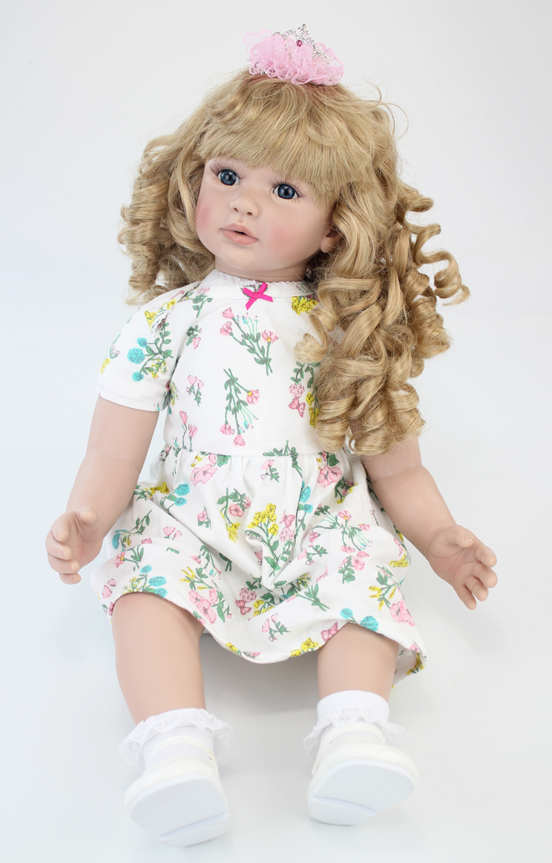 60 cm vinilo de silicona renacer muñeca juguetes 24 pulgadas rosa - Muñecas y accesorios - foto 6