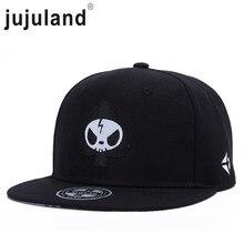 jujuland 2018 New Summer Male Baseball Cap Personality Bone Embroidery Flat Hip  Hop Hat Street Style 794d0109262c