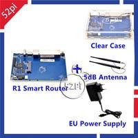 Hot Banana Pi R1 Wireless Smart Router BPI R1 Acrylic Case 2pcs BPI R1 Antenna