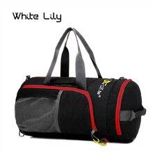 Al aire libre multifunción impermeable de Nylon Unisex Camping deportes bolsas plegables mochila Packsack bolsas de hombro de viajes de senderismo bolsas