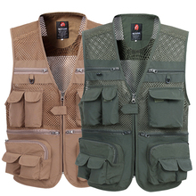 b Summer Mesh Vest For Men Spring Autumn Male Casual Thin Breathable Multi Pocket Waistcoat Mens Baggy 5XL With Many