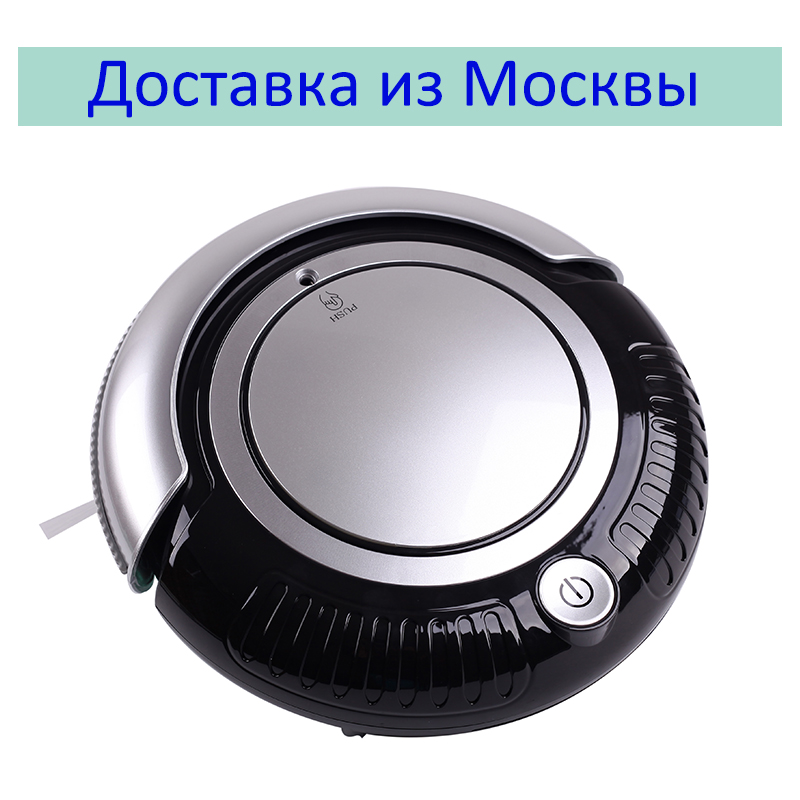 (Ship from RU) Mini Smart Robot Vacuum Cleaner K6L (Vacuum,Sweep,Mop) With mop,2 Side-brushes,Flashing LED Light,3 Working Mode, ems dhl post shipping to the world robot vacuum cleaner auto sweep mop one key start robot vacuum