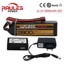 2016 New VOK 3S 11.1V 35C 2800mAh Lipo RC Battery XT60 for RC Helicopter RC Airplane RC Hobby free shipping