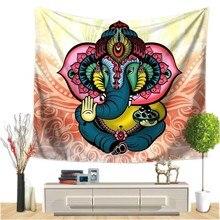 الهندي الفيل الجدار الشنق نسيج ماندالا الأزهار السجاد شيك بوهيميا الديكور غرفة الاطفال الشاطئ منشفة القبيلة نمط ديكور