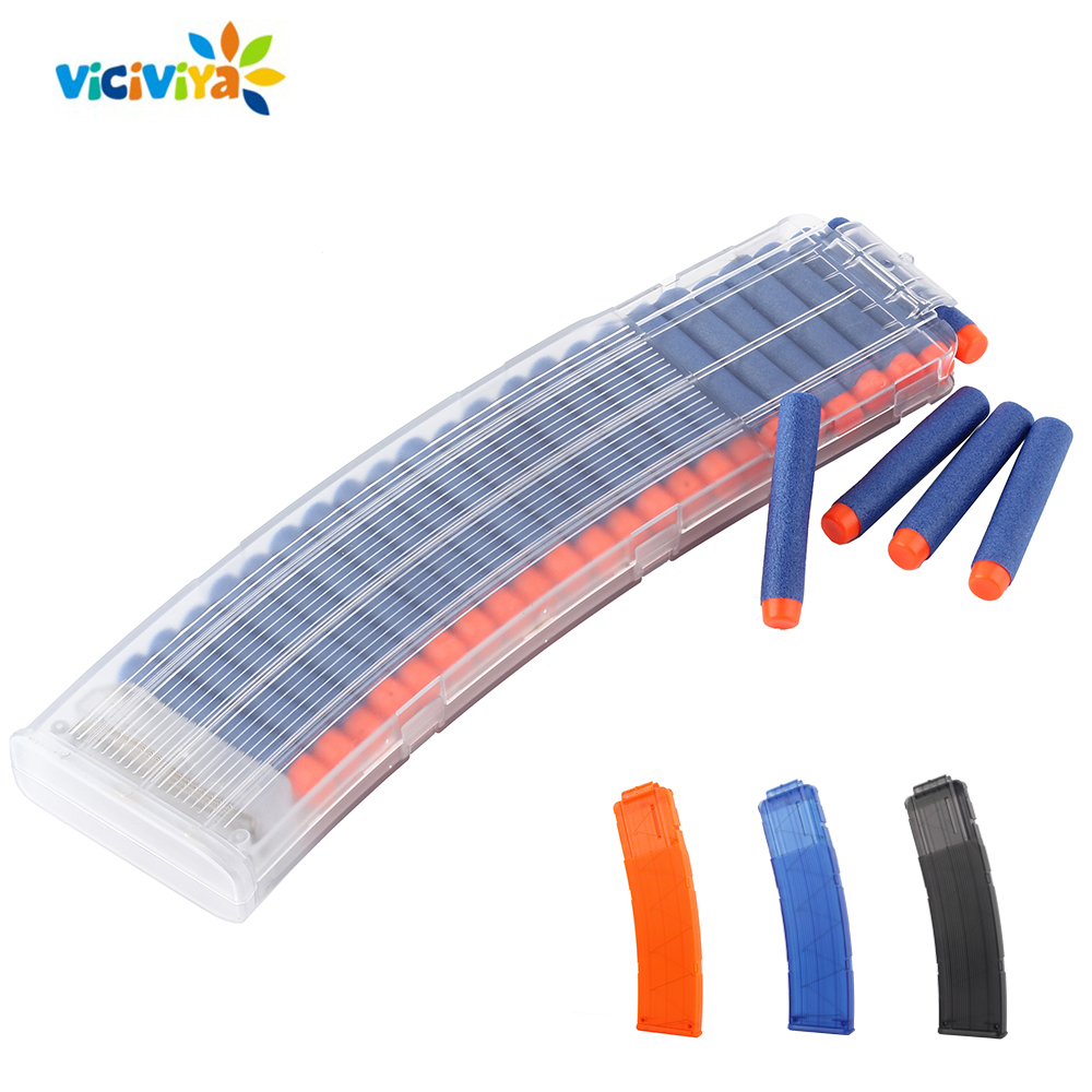 22 Reload Clip Magazines Round Darts Replacement Plastic Magazines Toy Gun Soft Bullet Clip For Nerf Gun For Blaster VS Worker
