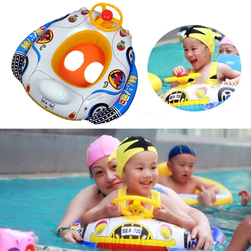 Baby Swimming Pool & Accessories Baby Tube Ring Swim Neck Ring Safety Infant Neck Float Circle For Bathing Inflatable For Kids
