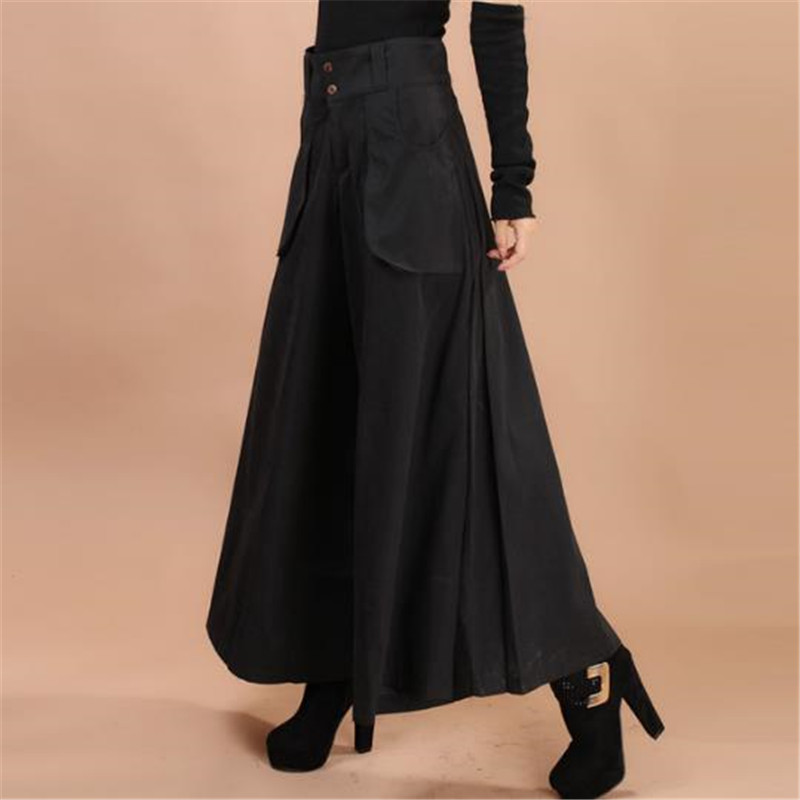 Plus Size Culotte Feet Pants Autumn Winter Thickening Casual Pants Wide Leg Pants Culottes Female Trousers