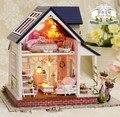 A060 большой размер Diy Деревянный Кукольный домик Миниатюре 3D Модель Головоломка Комплекты Кукольные Домики Миниатюрные Игрушки Дом Одного ангела