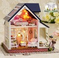 A060 big size Diy Wooden Doll house Miniatura 3D Puzzle Model Kits Dollhouses Miniature Toys House Single angel