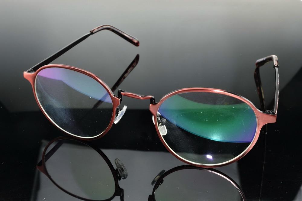 1699604b87 Online Shop High Myopic Nearsightness Myodisc Glasses Custom Made  Prescription 1.61 .167 1.74 Eyeglasses Red Round frame Spectacles -9 To-25