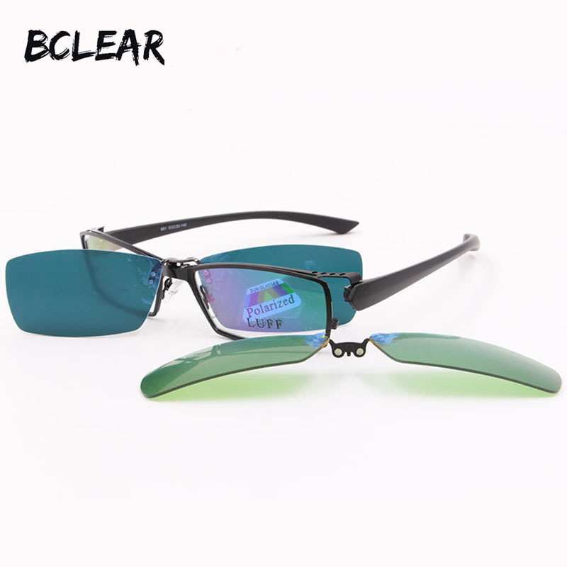 2f1063a1d40 Detail Feedback Questions about BCLEAR Alloy Myopia Presbyopia Optical  Frame Clip on Sets Polarized Day Night Vision 3 Usage Clip on Prescription  Sunglasses ...