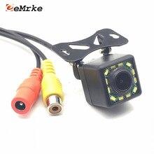 EEMRKE Универсальный 12 светодиодный автомобиля Камера HD CCD Ночное видение Авто заднего вида Камера 170 Широкий формат резервного копирования Парковка автомобиля Камера