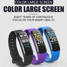 C1 Plus Color Screen Smart Bracelet Blood Pressure Smart Band Heart Rate Monitor Smart Fitness Tracker Wristband ky7 color screen smart wristband sports bracelet heart rate blood pressure oxygen monitor fitness tracker for iphone x 8 plus