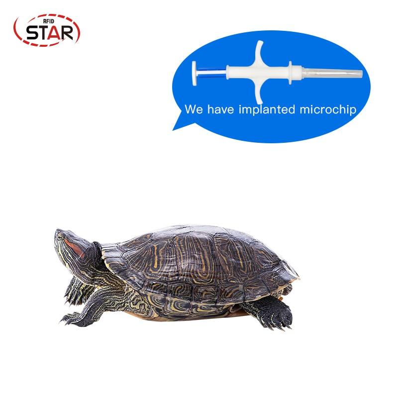 (10pcs) Smallest RFID Microchips 1.25*7mm Mini Size Animal Syringes EM4305 134.2KHz Sterile Pet Syringe Turtle Cat Microchip Kit