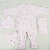 Designed Real Baby Dolls Clothes Pink And Blue 5 Pcs Doll Clothes Suit Fit 22 23