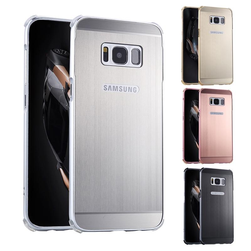 För Samsung S8 Plus S8Plus S8 + Fodral pläterad metallram med - Reservdelar och tillbehör för mobiltelefoner