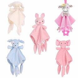 Weiche Baby Spielzeug 0-12 Monate Beschwichtigen Handtuch Beruhigen Schlaf Tier Blankie Handtuch Educative neugeborenen Baby Rasseln Mobile Kinderwagen spielzeug